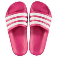 Papuci plaja adidas Duramo pentru fetite roz alb
