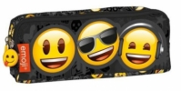 Penar Scoala Neechipat Dublu (2 Compartimente) Emoji Smiley Face
