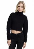 Pulover helanca mai lung in spate pentru Dama negru Urban Classics