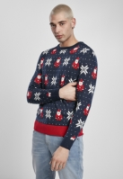 Pulover Nicolaus And Snowflakes multicolor Urban Classics snowflake