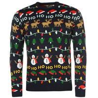 Pulovere tricotate Star Craciun XmasFairisle pentru Barbat