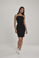 Rochie scurta cu bretele subtiri pentru Dama negru Urban Classics