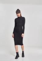 Rochie neagra helanca maneca lunga pentru Dama negru Urban Classics