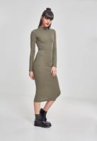 Rochie Turtleneck LS pentru Dama oliv Urban Classics