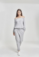 Salopeta Cold Shoulder Terry pentru Dama gri Urban Classics