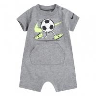 Salopeta Nike cu Maneca Scurta Suit pentru baieti pentru Bebelusi gri carbon deschis