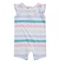 Salopeta Nike cu Maneca Scurta Suit pentru fete pentru Bebelusi alb dungi