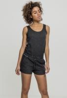 Salopeta scurta Cold Dye pentru Dama negru Urban Classics