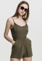 Salopeta scurta cu bretele subtiri pentru Dama oliv Urban Classics