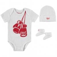 Salopeta Set Everlast 3 Piece Babies alb rosu