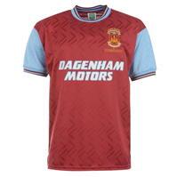 Tricou echipa Score Draw West Ham United 94 pentru Barbat claret albastru