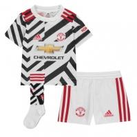Set adidas Manchester United Third 2020 2021 alb negru