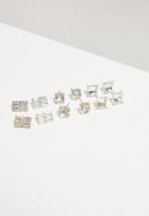 Set cercei Diamond 6-Pairs argintiu-auriu Urban Classics