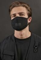 Set de 2 Masca fashion protectie Logo Print negru Urban Classics
