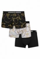 Set de 3 Boxeri Luxury luxury-negru Urban Classics alb