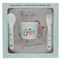 Set Linea Linea Melamine Craciun Dining pentru Copil multicolor