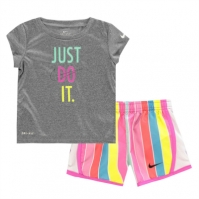 Set bebelusi Nike Short & Top Fete retro roz