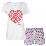 Set pijama cu pantaloni scurti Rock and Rags pentru Dama