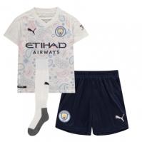 Set Puma Manchester City Third 2020 2021 alb albastru