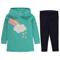 Set Rochie Hanorac Crafted pentru fete pentru Bebelusi multicolor