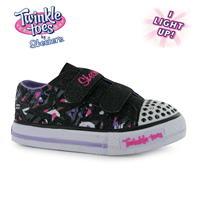 Skechers Twinkle Toes Canvas Shuffle Shoe pentru fete pentru Bebelusi