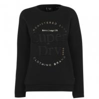 Bluze cu guler rotund Superdry Established negru 02a