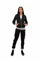 Trening Dama j5 fashion zip up ts2437 negru