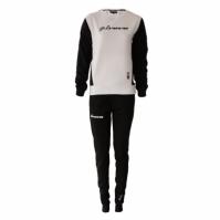 Trening sport TUTA DONNA 102 G/COLLO CON TASCHE IN FELPA Givova negru alb