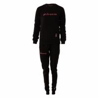Trening sport TUTA DONNA 102 G/COLLO CON TASCHE IN FELPA Givova negru roz fucsia