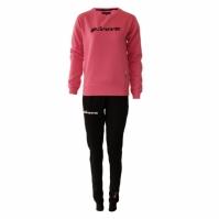 Trening sport TUTA DONNA 104 G/COLLO CON PAILLETTES IN FELPA Givova roz fucsia negru