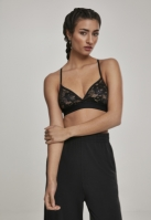 Triangle Laces Bra pentru Dama negru Urban Classics