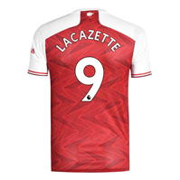 Tricou Acasa adidas Arsenal Alexandre Lacazette 2020 2021 rosu