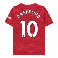 Tricou Acasa adidas Manchester United Marcus Rashford 2020 2021 pentru Copil rosu