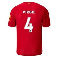 Tricou Acasa New Balance Liverpool Virgil van Dijk 2019 2020 pentru Copil