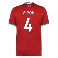 Tricou Acasa Nike Liverpool Acasa Virgil van Dijk 2020 2021 rosu