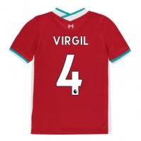 Tricou Acasa Nike Liverpool Virgil van Dijk 2020 2021 pentru Copil rosu