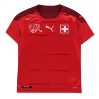 Tricou Acasa Puma Elvetia 2020 pentru Copil rosu