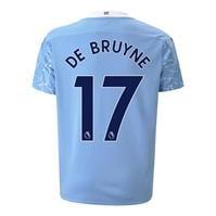 Tricou Acasa Puma Manchester City Kevin de Bruyne 2020 2021 pentru Copil albastru