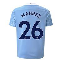 Tricou Acasa Puma Manchester City Riyad Mahrez 2020 2021 pentru Copil albastru