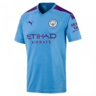 Tricou Acasa Puma Manchester City 's 2019 2020 Barbat verde deschis albastru mov