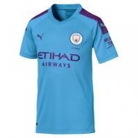Tricou Acasa Puma Manchester City 's 2019 2020 pentru Copil deschis albastru mov