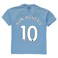 Tricou Acasa Puma Manchester City Sergio Aguero 2019 2020 pentru Copil