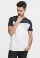 Tricou cu buzunar trei culori alb-gri Urban Classics carbune