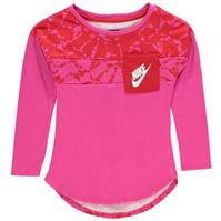 Tricou cu Maneca Lunga Nike AOP pentru fete pentru Bebelusi