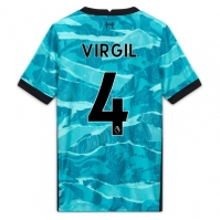 Tricou Deplasare Nike Liverpool Virgil van Dijk 2020 2021 pentru Copil albastru