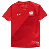 Tricou Deplasare Nike Polonia 2018 pentru Copil rosu