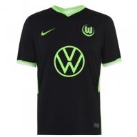 Tricou Deplasare Nike VFL Wolfsburg 2020 2021 negru verde