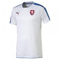 Tricou Deplasare Puma Czech Republic 2016 alb albastru