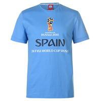 Tricou FIFA Cupa Mondiala 2018 Rusia Spania imprimeu Graphic pentru Barbat