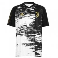 Tricou fotbal adidas Juventus 2020 2021 pentru Barbat alb negru